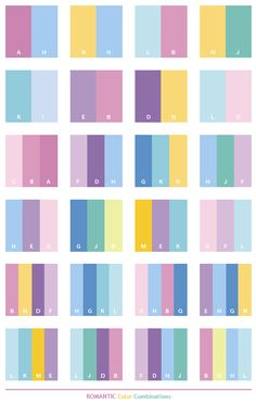 Color Schemes | Romantic color schemes, color combinations, color palettes for print ...