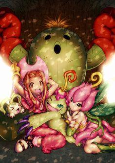 Mimi Tachikawa and Palmon Digivolutions #DigimonAdventure