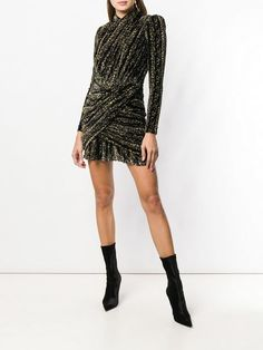 bcb3d1df904 Balenciaga long-sleeve Draped Dress - Farfetch