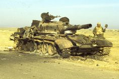 Really bad day for this Iraqi T-72M tank crew up on the famous Hwy 8 in Iraq during the first Gulf War 1991. Not many people know this but one of the largest battles of the war happened on March 2, 1991 AFTER the Feb 28 cease fire involving the 24thID
