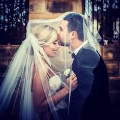 Sweet Photo of Bride & Groom | Kiss on the bride's forehead romantic, tender.