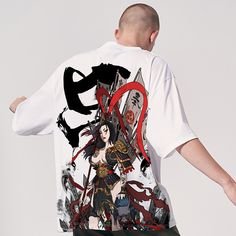 Image by Shutterstock Grunge Koi Fishes Doodle Tee Men/'s