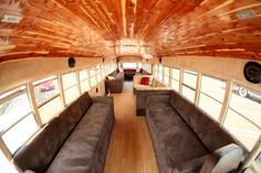 Interior of Big Woody : Like the wood on the ceiling