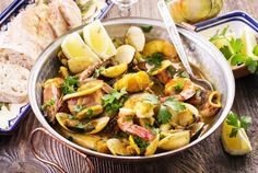 Fresh, balanced, and tasty meals are easy to find in Portugal - via The Daily Meal 11.02.2016 | Portuguese food is Mediterranean cuisine at its best, and like the people, it's warm, vibrant, spicy, and a little mysterious. It's also balanced, as the people's diet is filled with fruits, vegetables, fresh seafood, meat, and plenty of sweets. At the center of every meal are two indispensable items — bread and wine — although most Portuguese would probably argue pork should be included too.