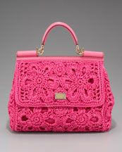 Dolce & Gabbana Miss Sicily Crocheted Straw Handbag ♥