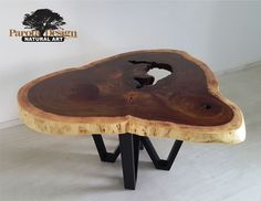 Mesa con cubierta de parota forma irregular única