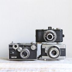 Vintage Cameras Set Of 3 V now featured on Fab.