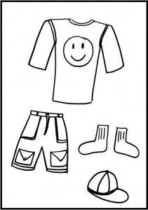 Colouring pictures of summer clothes for Kids clothes coloring pages