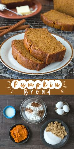 Easy No Bake Desserts, Köstliche Desserts, Delicious Desserts, Dessert Recipes, Yummy Food, Breakfast Recipes, Dinner Recipes, Starbucks Pumpkin Bread, Pumkin Bread