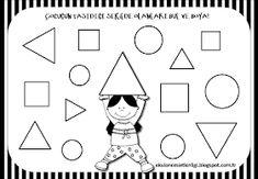 """Training and development of children - """"Fidget"""" Shapes Worksheet Kindergarten, Shapes Worksheets, Kindergarten Worksheets, Kids Worksheets, Toddler Learning Activities, Preschool Activities, Training And Development, Math For Kids, Coloring Pages"""