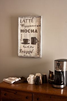 Rustic Coffee Themed Wall Plaque by BrytaegaInspired on Etsy, $50.00  would look really cute with the country theme