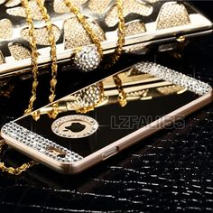 Luxury #mirror #bling crystal hard back case #cover for apple iphone&samsung gala,  View more on the LINK: 	http://www.zeppy.io/product/gb/2/201401379638/