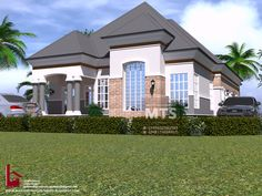 1 new message Bungalow House Design, Modern House Design, Bungalow Designs, Building Plans, Building Design, One Storey House, House Design Pictures, Architectural House Plans, Modern Architecture
