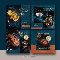 Food post banner collection Premium Psd | Premium Psd #Freepik #psd #banner #food #menu #restaurant Food Graphic Design, Food Menu Design, Food Poster Design, Graphic Design Inspiration, Design Design, Flyer Design, Menu Restaurant, Design Package, Food Banner