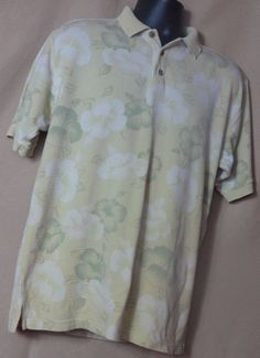 Tommy Bahama Men's Cotton and silk Blend Multi Color, Polo shirt size S #TommyBahama #PoloRugby