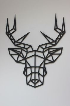 Items similar to Original and Unique Large Laser cut Artwork Limited Edition Contemporary Geometric Design Stag Head on Etsy Stag Animal, Animal Heads, Laser Cut Wood, Laser Cutting, Gravure Laser, Laser Cutter Projects, Diy Laser Cutter, Stag Head, Creation Deco