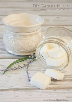 Homemade Candle Melts with Essential Oil. The warmth of a candle flame has been proven to do good for your body as well as for your mind. Get started to make some candle melts by yourself instead of buyinf some.