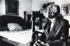 Jorge Luis Borges in his bedroom