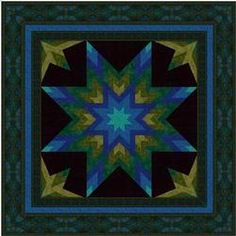 Stratosphere--is a dynamic, shaded star with partial-star corners.  Simple piecing techniques makes this radiant star variation easy to make. You will sew eight points together to make the central star and add the background triangles and squares using inset seams.    http://www.jinnybeyer.com/quilting-with-jinny/free-patterns/detail.cfm?instanceID=FA0BB473-C373-D373-9A5590DF96DD4CD5