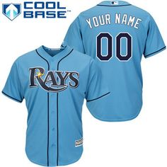 Women's Tampa Bay Rays Customized Light Blue Jersey