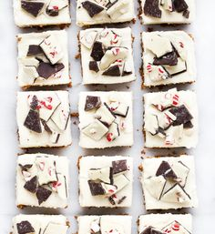 I've partnered with and to share these no-bake peppermint bark gingersnap bars. With a layer of tangy cream cheese frosting, these bars are b Christmas Cookies Gift, Christmas Treats, 16 Bars, Candy Bark, Cookie Gifts, Peppermint Candy, Winter Food, Winter Holiday, Christmas Breakfast