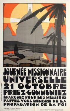 Original Vintage Posters -> Propaganda Posters -> Journee Missionnaire Art Deco - AntikBar