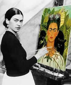 """""""I was born a bitch. I was born a painter"""" - Frida Kahlo. """" I paint self-portraits because I am so often alone,because I am the person I know best""""- Frida Kahlo Diego Rivera, Frida E Diego, Frida Art, Frida Kahlo Artwork, Mexican Art, Famous Artists, Best Female Artists, Most Famous Paintings, Best Artist"""
