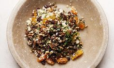Nigel Slater's lentils and couscous dish. Photograph: Jonathan Lovekin for the Observer