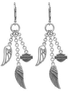 Harley-Davidson® Women's Multi-Wing Dangle Earrings HDE0219