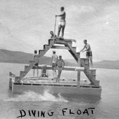 Early 20th Century Swimming and Diving Platform, Camp Pasquaney, Bridgewater, New Hampshire
