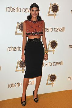Giovanna Battaglia Photo - Roberto Cavalli Party - Inside Photocall PFW Ready To Wear S/S 2011
