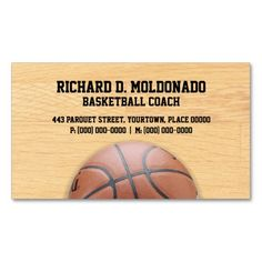 Basketball Coach Double-Sided Standard Business Cards (Pack Of 100)