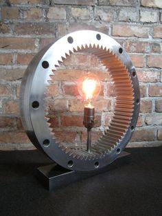 Striking Industrial Ring Gear Lamp