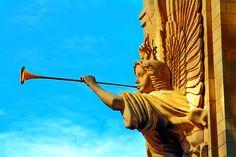 Trumpeting Angel at Bass Hall in Fort Worth