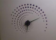 Designové hodiny, ciferník - samolepící folie na zeď