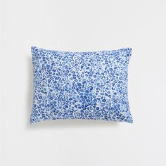 DARK BLUE PRINTED CUSHION COVER