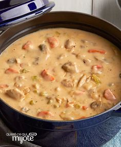 Creamy chicken stew in one recipe - Recettes - Chicken recipes healthy Fall Crockpot Recipes, Healthy Chicken Recipes, Soup Recipes, Dinner Recipes, Creamy Chicken Stew, Stew Chicken Recipe, Recipe Stew, Chicken Soups, Soups And Stews