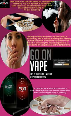 Vaping Cigarettes is good for health. For this reason, while vaping, you  are truly breathing in tobacco loose vapor. For many humans, vaping may be  used as ...
