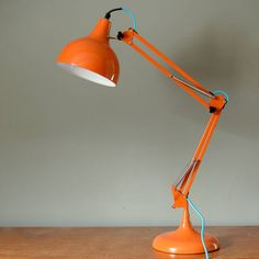 Are you interested in our orange angle poise desk lamp? With our table lamp you need look no further.
