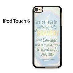 Divergent Dauntless The Brave Quotes Ipod Touch 6 Case