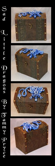 Sad Little Dragons By:Tammy Pryce $55 #dragons #chest