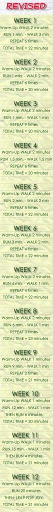 Beginner Running Training – Revised » Healthy Living
