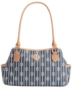 Giani Bernini Stripe Signature Swagger Satchel - All Handbags - Handbags & Accessories - Macy's