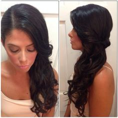 These side swept hairstyles are elegant, stylish and sexy. Check them out to get many ideas on how to pull your hair to the side. Side Swept Hairstyles, Indian Hairstyles, Instagram Wedding, Trends, Your Hair, Hair Makeup, Hair Beauty, Long Hair Styles, Elegant