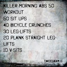 My personal and effective morning killer #abs daily #routine and ritual ! :) let's get those abs summer ready! #workout #fitness #bamfitapril