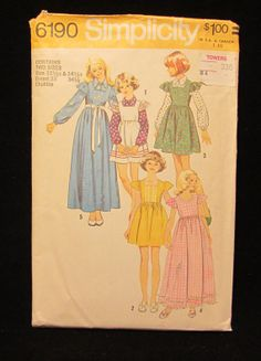 Items similar to Vintage Simplicity Pattern No Girls & Chubbies Dress or Jumper in Two Lengths and Blouse- size - on Etsy Real Wild Child, Iggy Pop, Simplicity Patterns, Vintage Sewing Patterns, My Mom, Childhood, Children, Dresses, Young Children