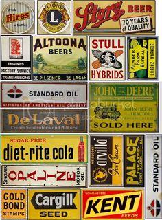 Vintage Banner, Vintage Signs, Vintage Posters, Advertising Signs, Vintage Advertisements, Train Posters, Model Trains, Toy Trains, Retro Ads