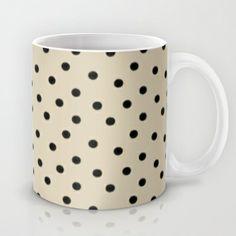 Cappuccino Cream Dots  Mug by Bohemian Bear by Kristi Duggins - $15.00