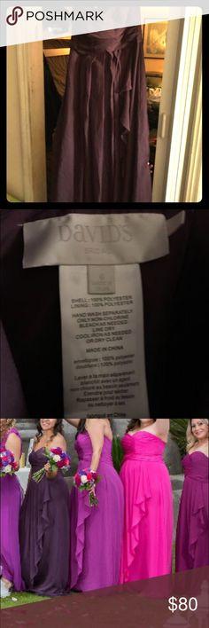 Plum dress for sale Size 6 plum dress wore once David's Bridal Dresses Strapless