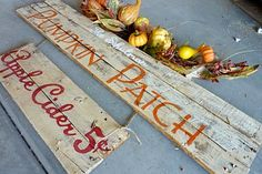 Fall sign (use pallet planks?)